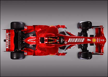 Ferrari's F2008 car
