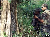 A Sri Lankan soldier