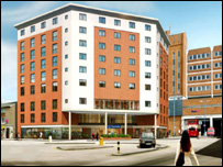 An artist's impression of the finished hotel
