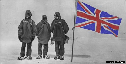 Ernest Shackleton and colleagues
