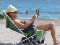 Holidaymaker in Benidorm