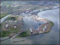 Grangemouth port aerial