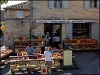 Market stalls in Provence