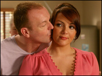 Hugo Speer and Martine McCutcheon