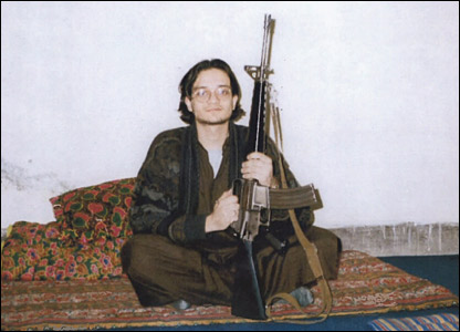 Sohail Anjum Qureshi with gun