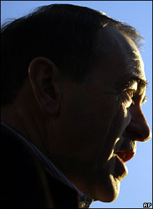 Republican Presidential hopeful and former Arkansas Governor Mike Huckabee, during Tuesday's voting.