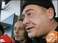 Levan Gachechiladze speaking to media in Tbilisi, 8 January 2008