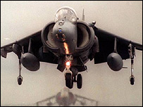 A harrier from RAF Wittering