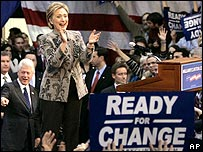 Hillary Clinton gives her New Hampshire victory speech - 8 January 2008
