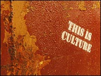 Stencil saying 'This is Culture'