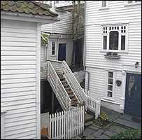Traditional white wooden houses (Picture: Duncan Robertson)