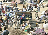 Makeshift displaced camp in Eldoret, western Kenya, on Tuesday