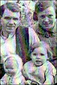 A picture of Jack 'Jigger' Taylor and family