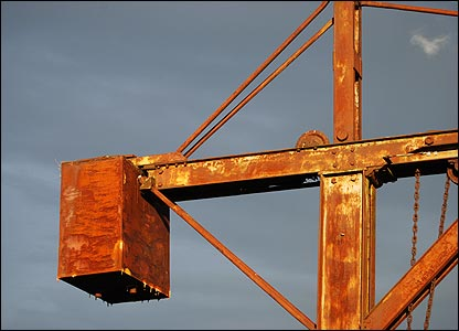 Rusting crane