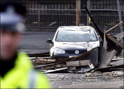 Car near Great Eastern Hotel, Glasgow
