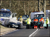 Scene of accident [Pic: Newsline]