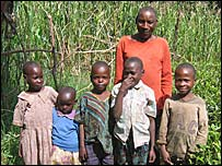 Isaiah Mawangu and his family