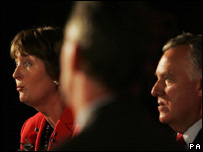 Peter Hain (right) and Harriet Harman at a deputy leadership hustings