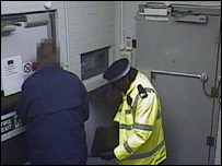 Still from CCTV inside the Securitas depot in Tonbridge