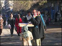 A street seller in Irbil