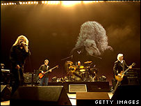 Led Zeppelin at the O2 arena
