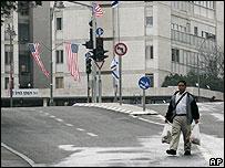 Empty streets in Jerusalem