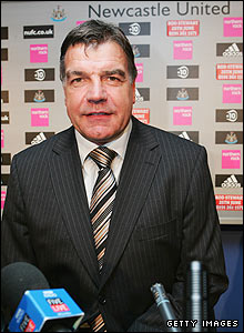 Sam Allardyce is revealed as the Newcastle boss in May 2007