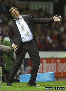 Allardyce shows his frustration at Derby County