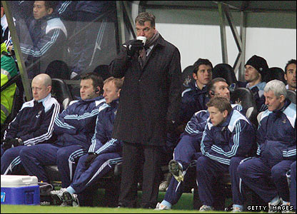 Allardyce shows his disappointment