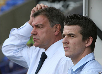 Sam Allardyce with Joey Barton