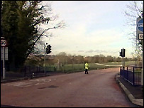 The scene of the fatal accident in Princes Road, Dartford