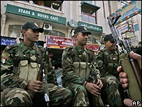 Palestinian security troops in Ramallah, West Bank - 9/1/2008