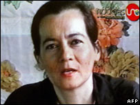 Clara Rojas in a video broadcast in 2003