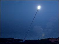 تجربة صاروخية أمريكية