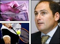 Larry Scott, presidente del Circuito Profesional de Tenis Femenino (WTA).