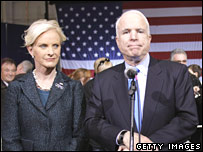 John McCain with his wife Cindy