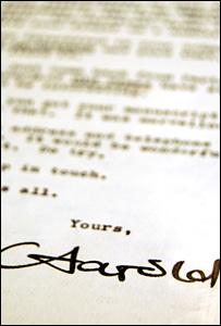 A Harold Pinter letter