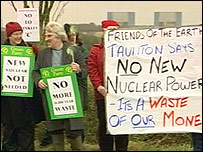Protesters at Hinkley Point