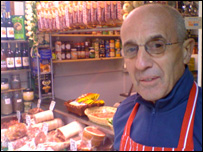 Ernie Nichols, local butcher