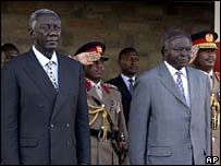 John Kufuor and Mwai Kibaki