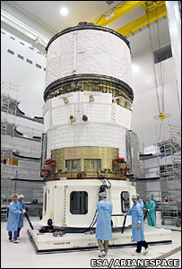 ATV at Kourou (Esa/Arianespace)