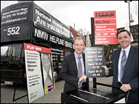 Employment Minister Pat McFadden and Newham Mayor Sir Robin Wales