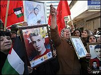 Manifestantes en Nablus