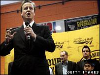 David Cameron at the opening of Amir Khan's gym