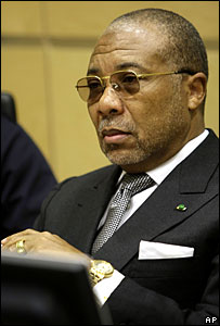 Charles Taylor at the Special Court for Sierra Leone in the Hague, 7 January 2008