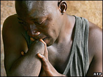 File picture of an amputee victim of Sierra Leone's civil war