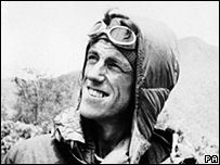 Sir Edmund Hillary looks at Everest after climbing it in 1953