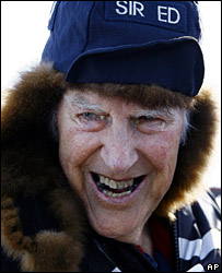 Sir Edmund Hillary in the Antarctic in January 2007