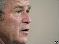George Bush in Ramallah