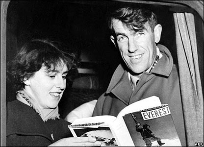Sir Edmund Hillary and wife